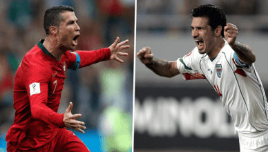 Ronaldo exchange messages with Ali Daei after new record