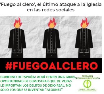 fuego al clero, trending toppic hoy en twitter