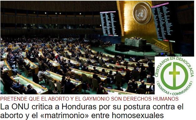 La ONU presiona a los países que rechazan el aborto y el gaymonio.