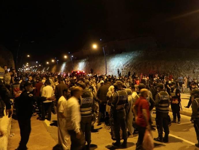 oleada de inmigrantes en Ceuta