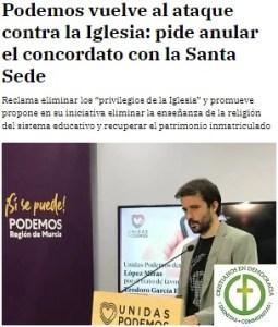 El gobierno de España da un paso mas contra la libertad religiosa