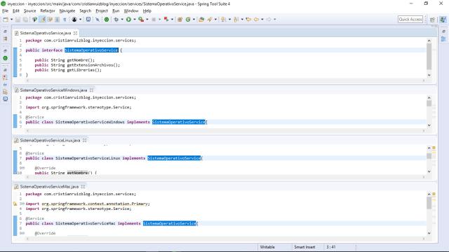 interface e implementación