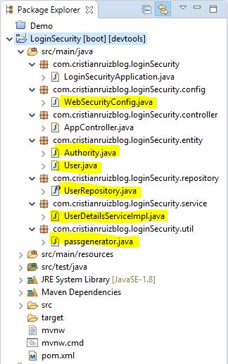 Proyecto Login Estructura Completa