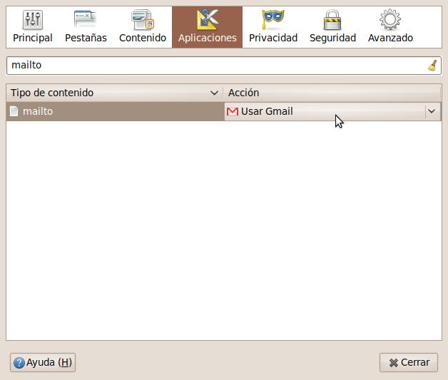 GMail mailto firefox
