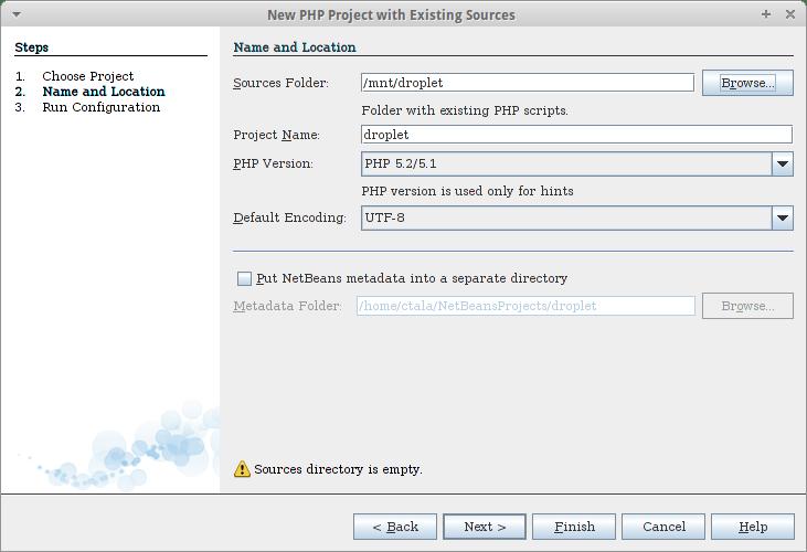 Netbeans Droplet Directorio