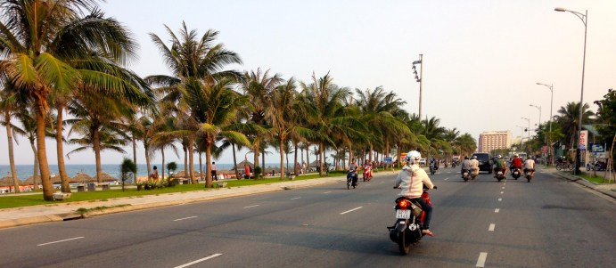45 minutes on this coastal road down to Hoi An was...not a particularly unpleasant trip