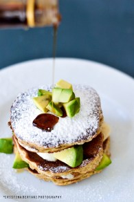 avocado banana pancakes