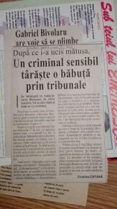 Unul dintre primele articole din cotidianul Ora