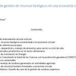 Niveles de gestión de recursos biológicos en una economía circular