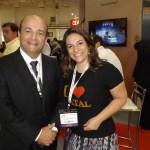 Presidente da ABAV-RN, Abdon Gosson e a hoteleira Emanuelle Barreto