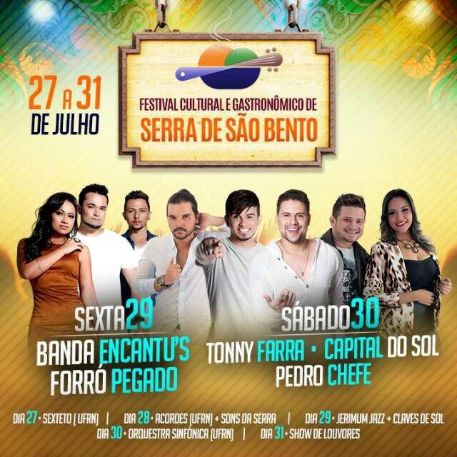 Serra de São Bento anuncia seu Festival Cultural e