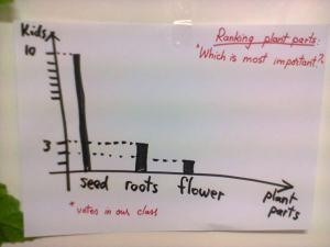 Plant parts ranking - bar graph