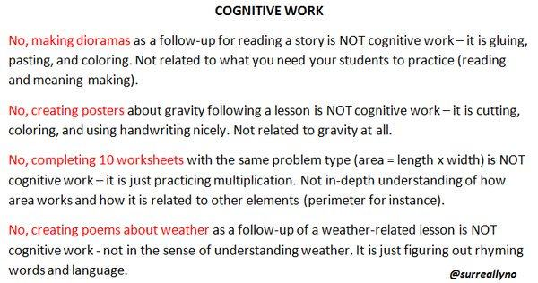 me - cognitive work