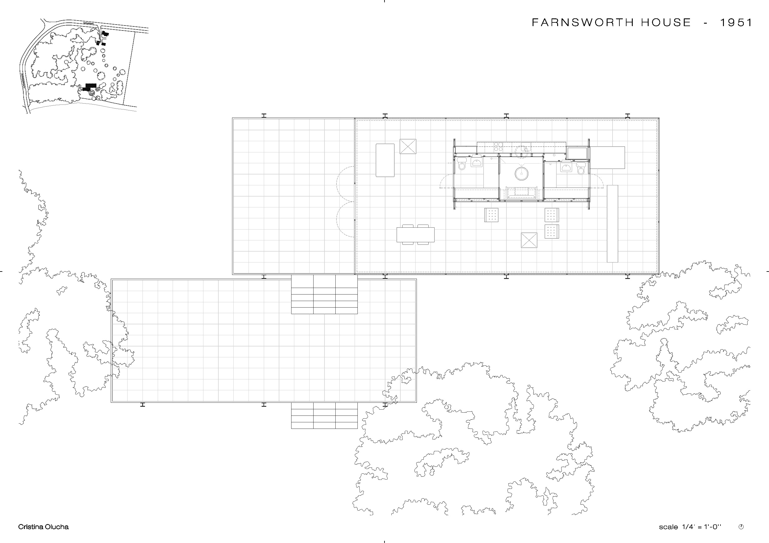 Farnsworth House, By Mies Van Der Rohe