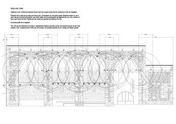 Salardu, church, vall d'aran, drawing, stones, well drawn, beautiful, precision, mathematics, regla del terç, section