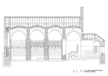 Salardu, church, vall d'aran, drawing, stones, well drawn, beautiful, precision
