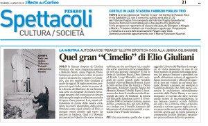 """""""Il Resto del Carlino"""" Pesaro - 6 luglio 2012"""