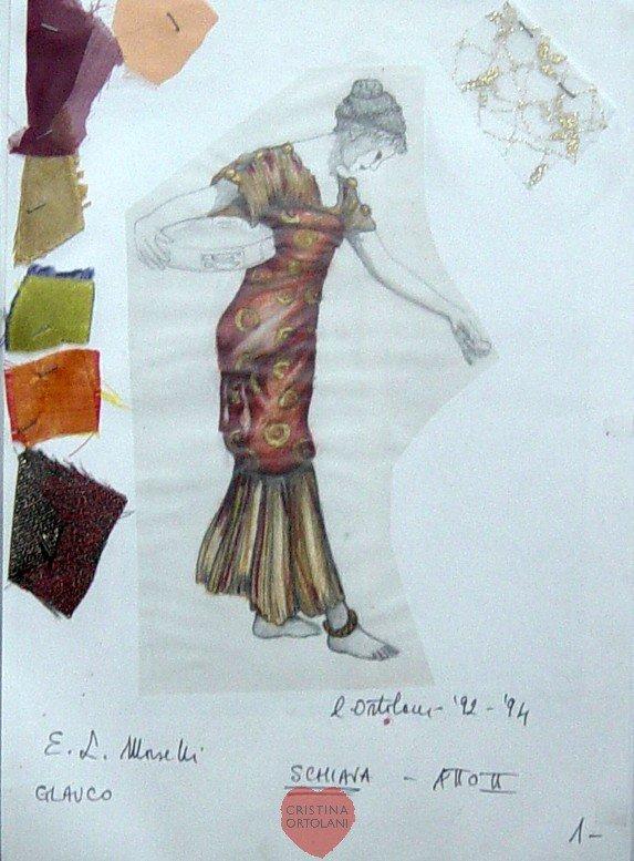"""E. L. Morselli, """"Glauco"""": bozzetto per una delle Schiave )"""
