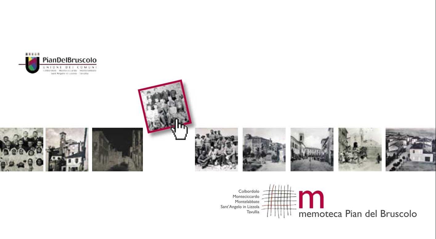 """Estate 2007. Con il percorso espositivo """"Scrigni della memoria"""", che tocca tutti cinque i Comuni dell'Unione Pian del Bruscolo, la Memoteca si presenta ufficialmente al pubblico (nell'immagine: l'esterno del pieghevole)"""