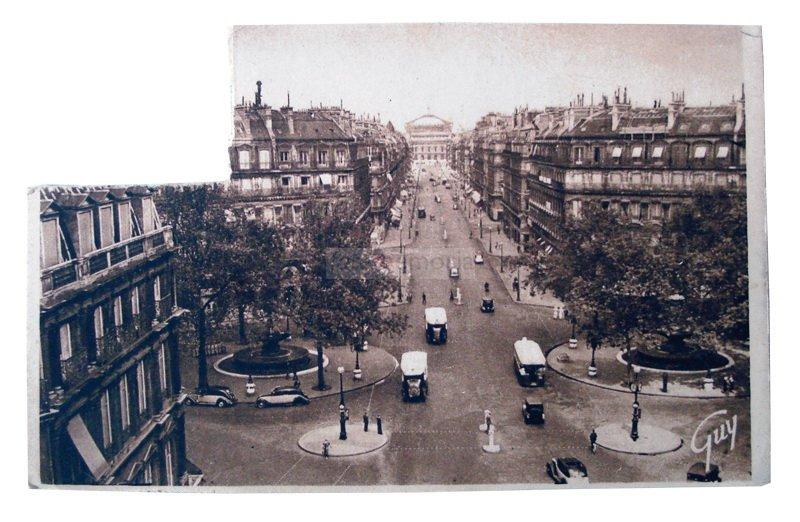 Parigi, 1951. Cartolina inviata da Prima Paganelli a Emilia Barbanti Badioli