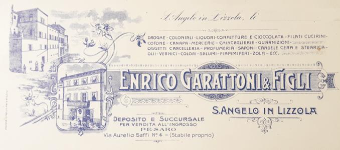 Enrico Garattoni Sant'Angelo in Lizzola - Carta intestata - Collezione Cristina Ortolani