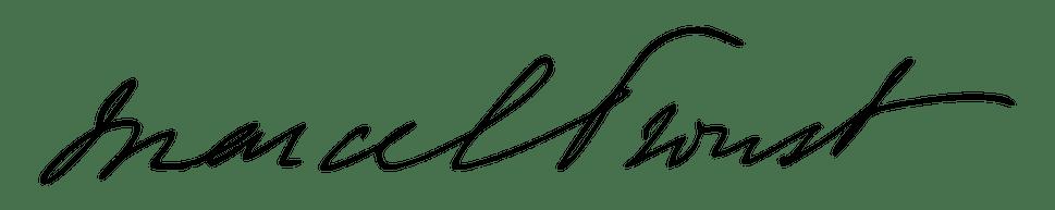 Marcel Proust, firma