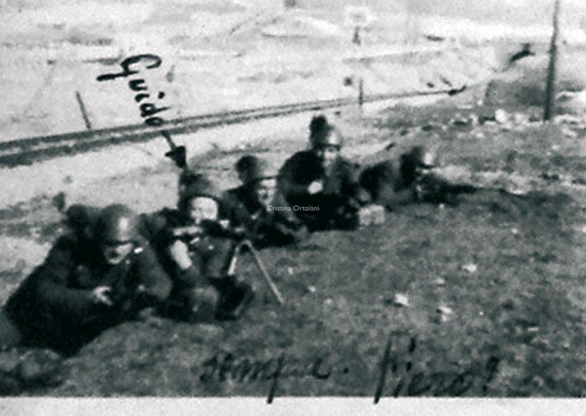 5 febbraio 1943. Guido Albertini al fronte (raccolta Famiglia Albertini, Monteciccardo) - Memoteca Pian del Bruscolo