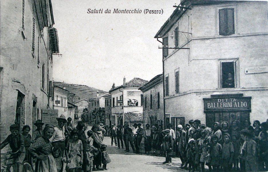 Montecchio di Sant'Angelo in Lizzola, anni '30-'40 del '900