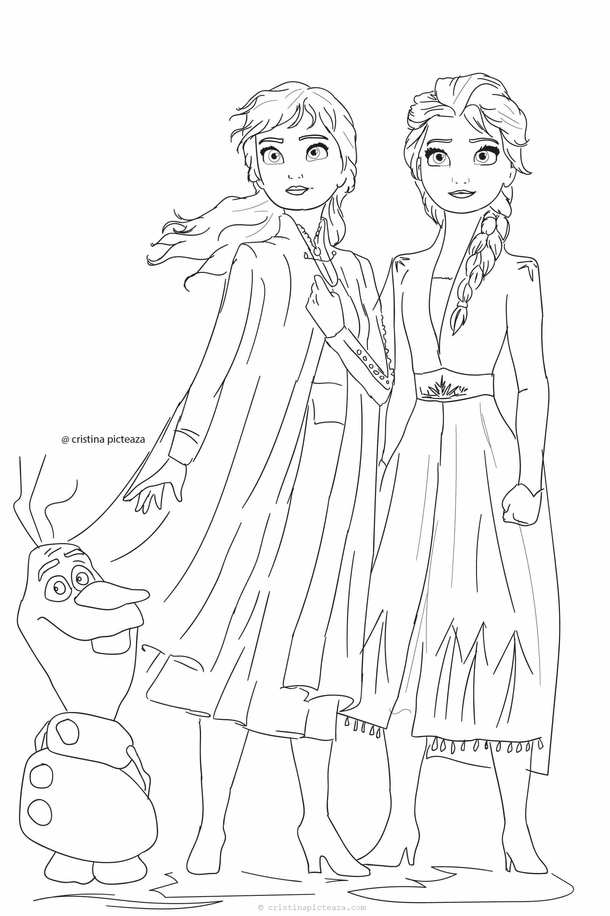 Frozen 2 Coloring Pages Elsa And Anna Coloring