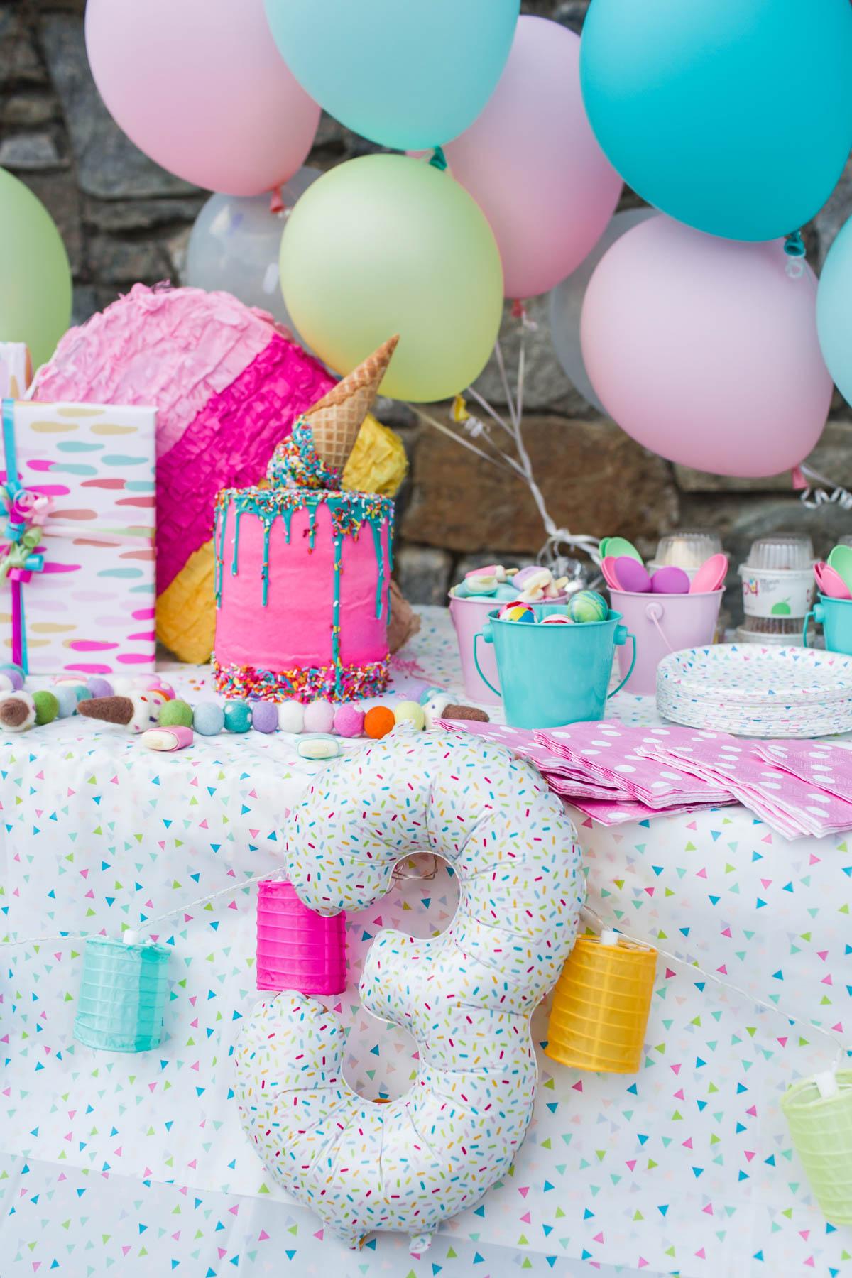 Ice Cream Themed Birthday Party Cristin Cooper