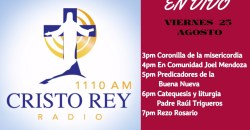 CRR En Vivo Viern 25 Agosto – 3pm a 7pm