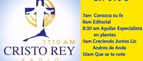 Cristo ReyRadio EnVivo Mierc 22 Agosto 7am a 11am