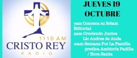 Cristo Rey Radio En Vivo Viernes 20 Octubre 7am a 11am