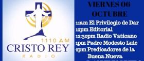 Cristo Rey Radio En Vivo Viernes 6 Oct 11am