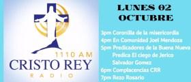 Cristo Rey Radio En Vivo Lunes 2 Octubre 3pm a 7pm