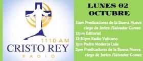 Cristo Rey Radio En Vivo 2 Octubre 11am 3pm