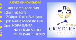 Cristo Rey Radio En Vivo Jueves 9 Noviembre 11am a 3pm