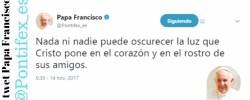 Twetter papa Francisco Martes 14 Noviembre  2017