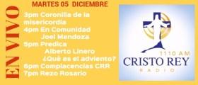 Cristo Rey Radio En Vivo Lunes 04 Diciembre 3pm a 7pm