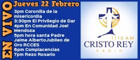 Cristo Rey Radio En VivoJuev 22 Febrero 3pm a 7pm