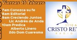 Cristo Rey Radio En Vivo  Viern 23 Febrero 7am a 11am