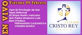Cristo Rey Radio En Vivo Jueves 09 Febrero 11am a 3pm