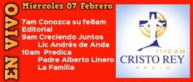 Cristo Rey Radio En Vivo Miercoles 07 Febrero 7am a 11am