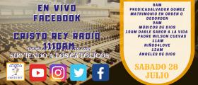 Cristo Rey Radio En Vivo Lunes 30 Julio 6AM A 10AM