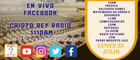 Cristo Rey Radio En Vivo  Lun 23   Junio   10am a 2pm
