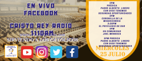 Cristo Rey Radio En Vivo miércoles 25 Julio 2PM A 5PM