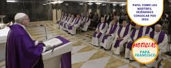 Papa: como los mártires, dejémonos consolar por Dios