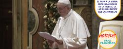 El Papa a la curia: ante escándalos en la Iglesia, la luz es más fuerte que las tinieblas