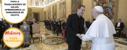 Papa a trabajadores de salud: aprendamos la humanidad de Cristo