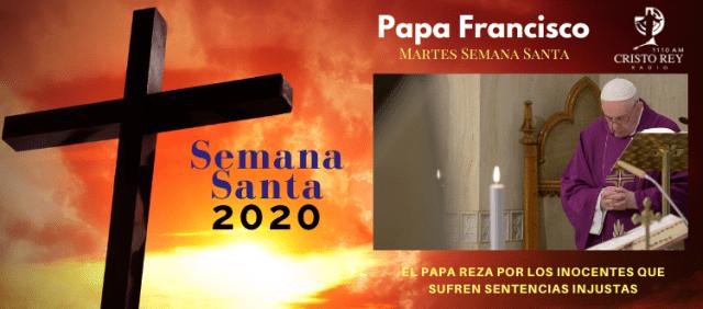 El Papa reza por los inocentes que sufren sentencias injustas